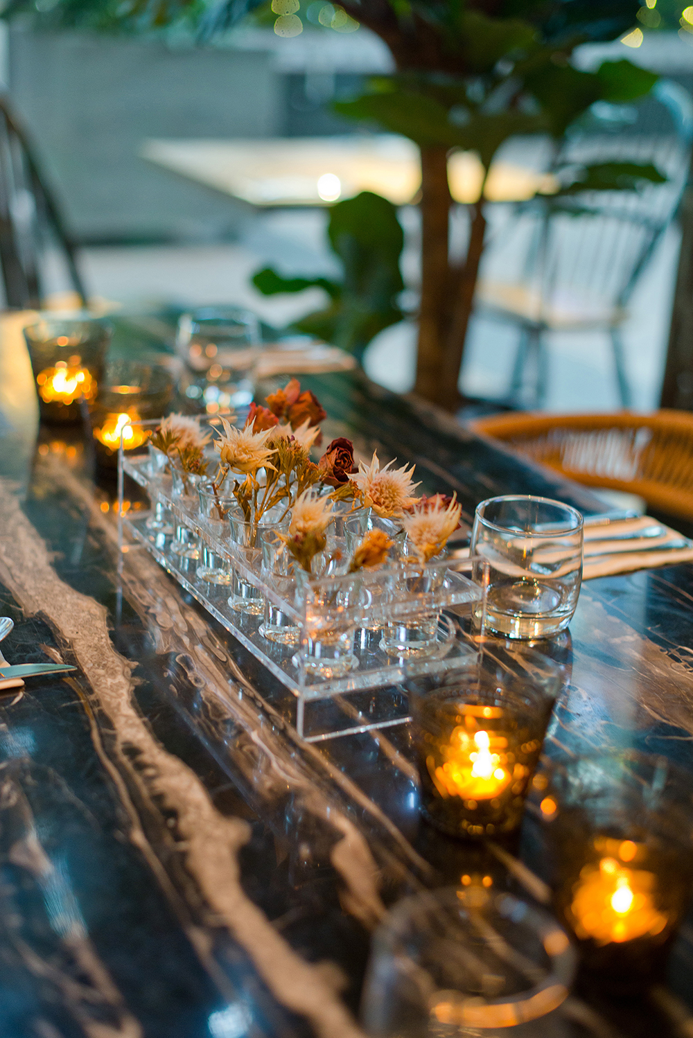 Dried Flowers in Table